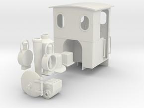 O&K loco kit  in White Natural Versatile Plastic: 1:24