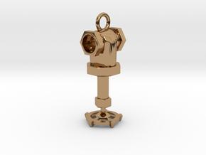 Steampunk style earring in Polished Brass