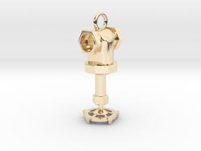 Steampunk style earring in 14k Gold Plated Brass
