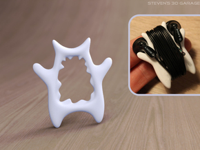 MP3 Cable Winder Guy (Type D) in White Natural Versatile Plastic