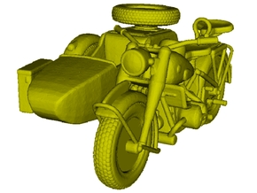 1/120 scale WWII Wehrmacht motorcycle x 1 in Smooth Fine Detail Plastic