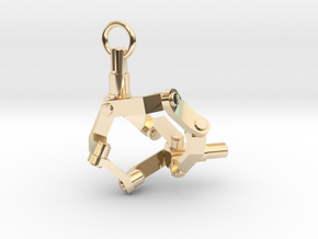 Mechanical earring (left) in 14K Yellow Gold