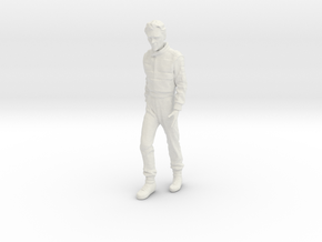 1/18 Ayrton Senna Walking Pose in White Natural Versatile Plastic