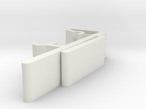 Vertical Valance Clip 1 1/2 A1 in White Natural Versatile Plastic