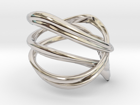 Milkyway Ring size US4.0 in Rhodium Plated Brass