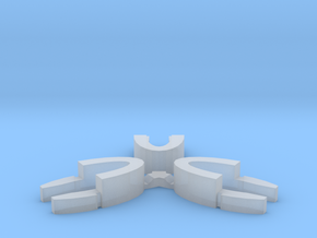 Set of 3 - Globe clamp (Massive armatures) in Smooth Fine Detail Plastic