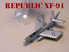 Republic XF-91 Thunderceptor 6mm 1/285 in White Natural Versatile Plastic
