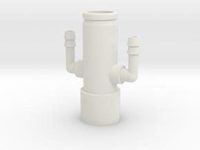 CPAP Dual Gas Bleeder - Bend in White Natural Versatile Plastic