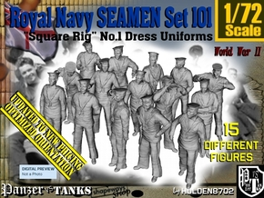 1/72 Royal Navy Seamen Set101 in Smooth Fine Detail Plastic