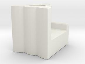 Shade Bracket 318 Luminette Clip in White Natural Versatile Plastic