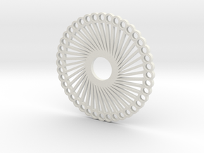 "Fidget Spinner ""40 Arms"" in White Natural Versatile Plastic"