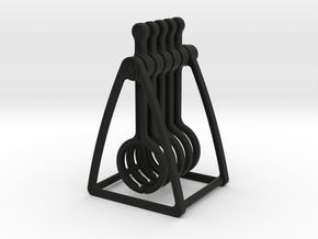 'Time is Money' Mini Wave Pendulum in Black Natural Versatile Plastic