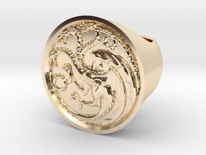 Ring of house targaryen - game of thrones in 14k Gold Plated Brass