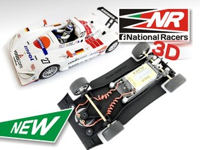 3D Chassis - Fly Lola B98/10 - Inline in Black Strong & Flexible