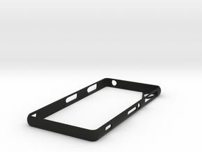 Sony Xperia Z3 bump case in Black Natural Versatile Plastic
