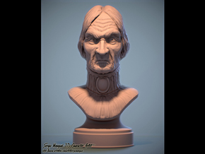 Haunted Mansion Female Bust 30cm Tall in Natural Sandstone