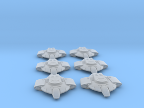 Federation Defiant-Class Escort 6-pack 1:7000 in Smooth Fine Detail Plastic