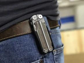 Holster for the Leatherman Wave, Closed Loop in Black Natural Versatile Plastic: Small
