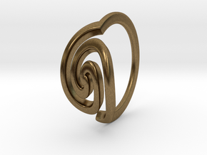 Spiral Ring, Size 4.5 in Natural Bronze