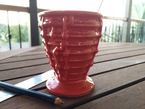 SSME Cappuccino Cup 180mL in Gloss Red Porcelain