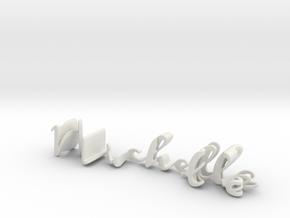 3dWordFlip: Michelle/Matt in White Natural Versatile Plastic