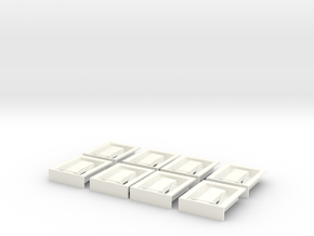 1.8 EC145/135 poignees de trappes in White Processed Versatile Plastic