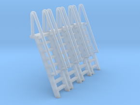 N Scale Ladder 8 (4pc) in Smooth Fine Detail Plastic