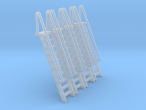 N Scale Ladder 10 (4pc) in Smooth Fine Detail Plastic