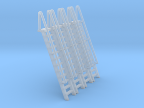 N Scale Ladder 12 (4pc) in Smooth Fine Detail Plastic