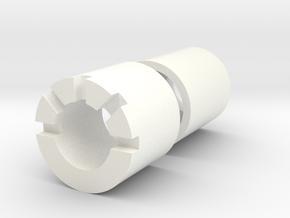 string blade Male\Female Adaptors in White Processed Versatile Plastic
