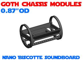 GCM087 - Nano Biscotte soundboard chassis in White Natural Versatile Plastic