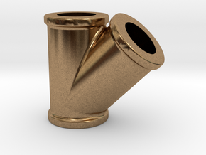 No. 23 - 2.5 inchScale - Sander Pipe fitting plus  in Natural Brass