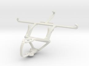 Controller mount for PS3 & QMobile Noir Z9 in White Natural Versatile Plastic