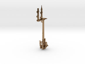 HO LQ RH Bracket Signal - Scarbororough Siding in Natural Brass