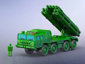 Chinese PHL03 300mm MLRS 1/144 in Smooth Fine Detail Plastic