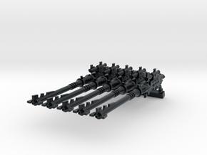 28mm Space Elf shadow spear guns in Black Hi-Def Acrylate