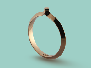 Shapesweeper Rectangular Basic Ring in Polished Bronze: 5.5 / 50.25