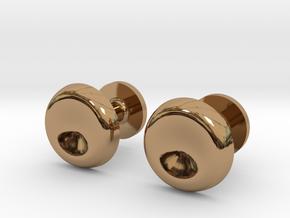 Milnerfield Turing Cufflinks - Pair in Polished Brass