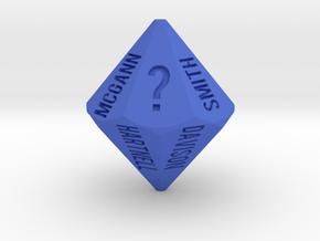 TrapezoWho?dron (? alt version) in Blue Processed Versatile Plastic