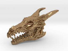 Dragon Skull in Natural Brass