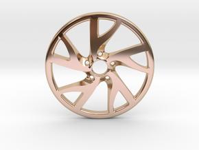 Rim Pendant in 14k Rose Gold Plated Brass