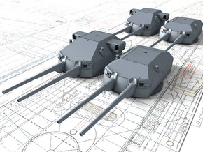 1/720 DKM 20.3cm/60 SK C/34 Guns with Bags 1941  in Smoothest Fine Detail Plastic