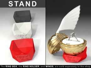"STAND (STONE MODEL) - To the ""Snitch Ring Box"" in Red Strong & Flexible Polished"