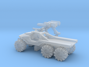 All-Terrain Vehicle 6x6 with open cargo bed in Smooth Fine Detail Plastic