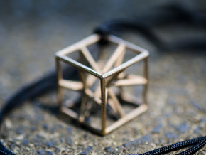 """starcube"" pendant in Stainless Steel"