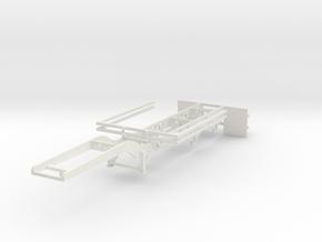 000102a Looger Trailer 1:50 in White Natural Versatile Plastic: 1:50
