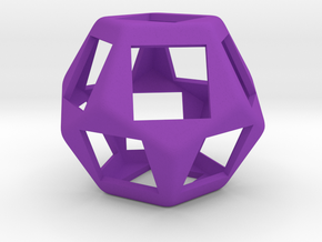 Fidget Dodecahedron for Cherry MX switches rev.2 in Purple Processed Versatile Plastic