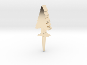 Tree Peg in 14K Yellow Gold