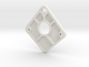 Endplate in White Natural Versatile Plastic