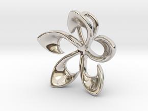 Flowering Plumaria Pendant in Platinum: Large